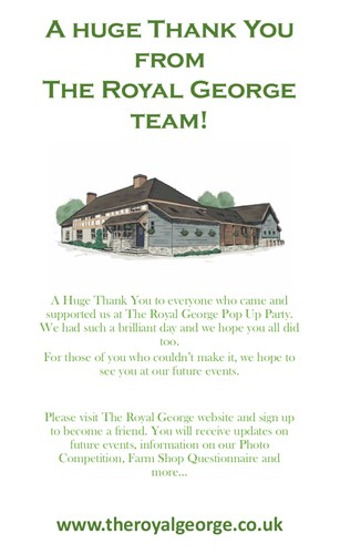 Thank You from The Royal George