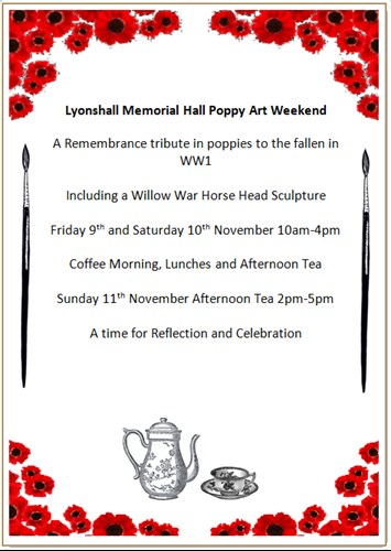 Lyonshall Memorial Hall Remembrance Events