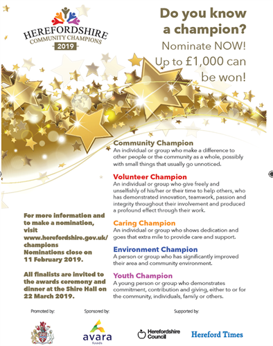 Herefordshire Community Champion Awards 2019